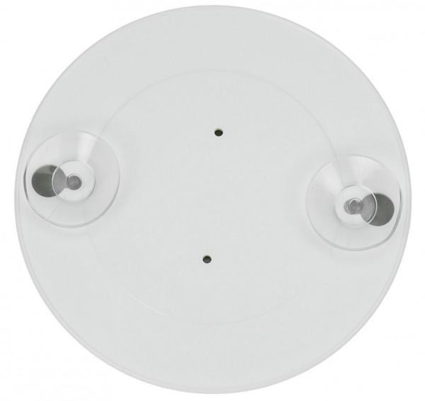 Kleiner Saugnapf Spiegel mit 10-fach Vergrößerung, weiß, rund Ø 8.5 cm