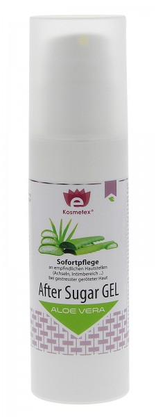 Kosmetex SOS After Sugar Gel Aloe Vera, Sofortpflege bei geröteter Haut nach Sugaring Waxing, 150ml