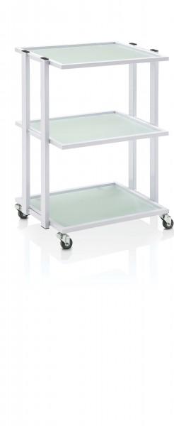 Beistellwagen PREMIUM 200, Servicewagen rollbar, 58x42x82, Weiß
