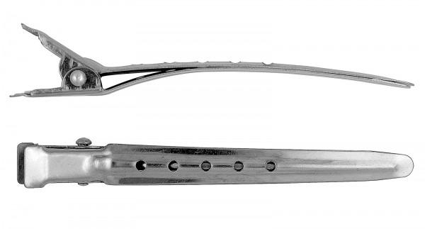 12x Haarspangen, 8 cm Stahl Haarklammern, Haarclips