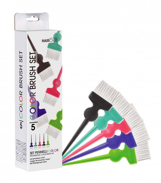 Set Färbepinsel Color, Flachpinsel mit ultraweichen Nylonborsten, Set 5 Stück