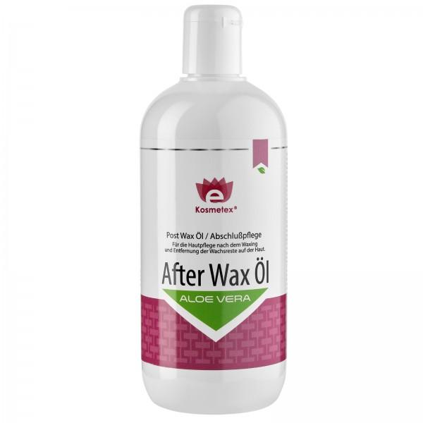 Kosmetex Aloe Vera After Wax Öl, beruhigend und pflegt, entfernt Wachsreste nach dem Wachsen - Waxin