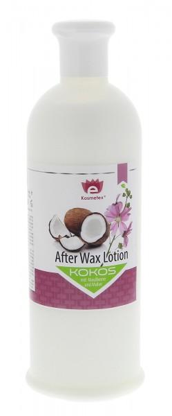 Kosmetex Kokos After-Wax Lotion mit Maulbeere und Malve, nach Wachsen, Waxing, Zuckern, 500ml