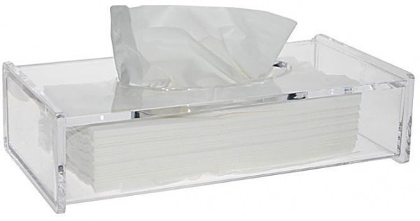 Kosmetiktücherbox, Acryl Behälter f. Kosmetiktücher Kosmetik mit Deckel