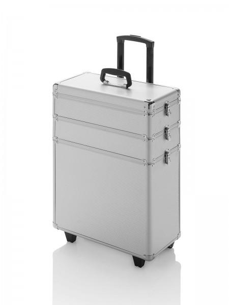 Hart-Friseurkoffer, Friseur Werkzeugkoffer, Trolley Space, silber