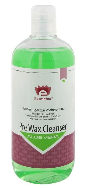 Kosmetex Pre Wax Aloe Vera, Hautreiniger Waxing und Sugaring, Cleanser 500ml