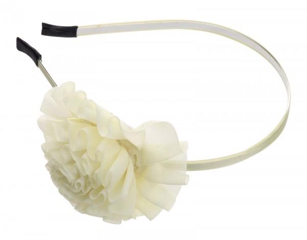 Haarreif mit große Blumenapplikationen, hellgelb