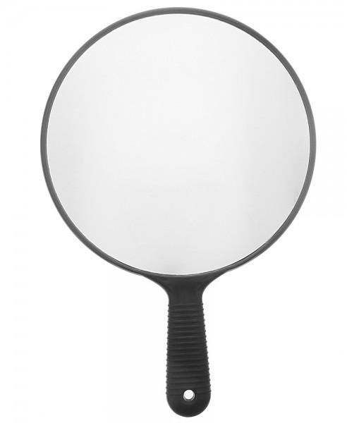 Ø 26cm Großer Friseur-Spiegel, Handspiegel Schwarz h: 37cm
