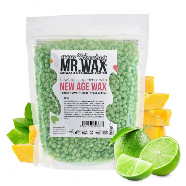 Mr. Wax Wachsperlen Lime New Age Wax, New Waxing, 500g