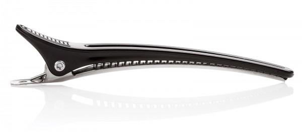 12x Haarspangen, 10 cm Haarklammern, Kunststoff und Aluminium, Haarclips