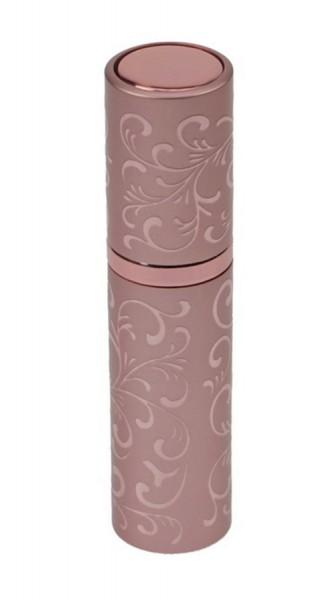 Taschenzerstäuber mit eindrehbaren Zerstäuberkopf, Pink Parfümzerstäuber, Pump Zerstäuber für Unterw