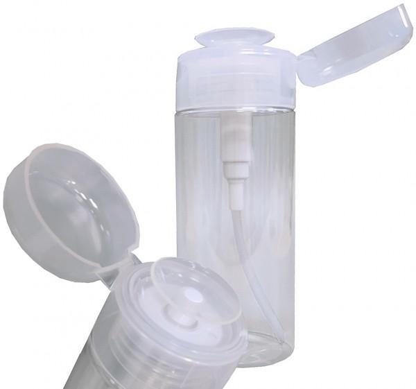 Pump Dispenser zum dosierten Auftragen von Nagellackentferner, Reiniger, Cleaner Pumpflasche, Pumpsp