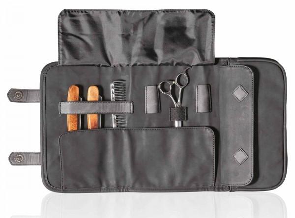 Barber Tragbare Scherentasche, schwarz, Faltbare Friseur Handtasche
