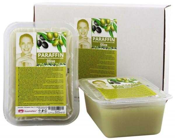 Kosmetex Paraffinbad Olive, Paraffin-wachs, 2 x 500ml
