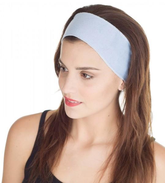 Blaues Haarband mit Klettverschluss