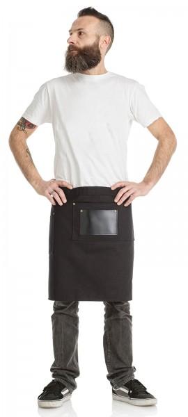 Barber Halb Schürze schwarz, Taillen Schürze mit Tasche