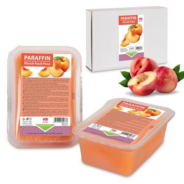 Kosmetex Paraffinbad Pfirsich, Paraffinwachs, 2 x 500ml