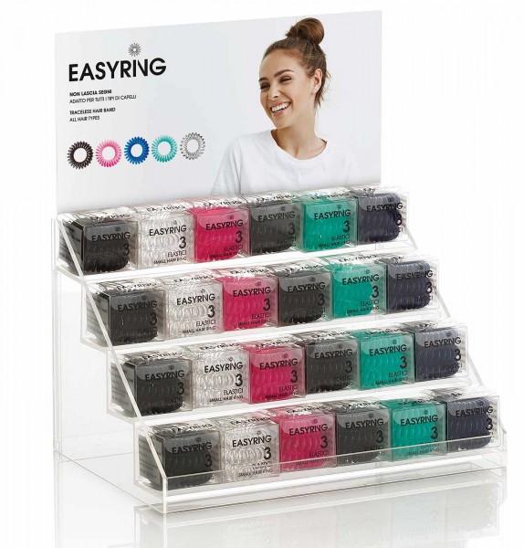 Aussteller Multicolor Spiral Haargummibänder, EASYBAND