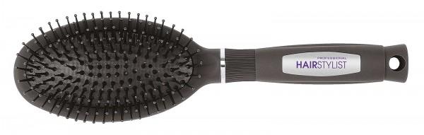 Haarbürste, Ovale Pneumatikbürste, schwarz