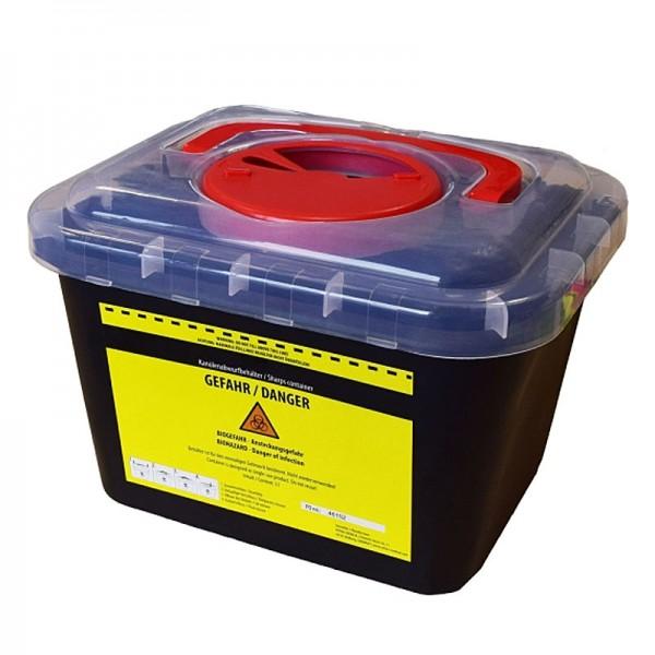 Große Abwurfbox, Entsorgungsbox, Behälter für Kanülen, Rasierklingen, Lanzetten, Skalpellklingen