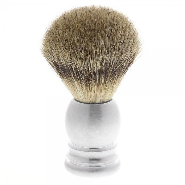Rasierpinsel aus Rein Dachs Haar Silberspitz Pinsel, Aluminium, silberfarben