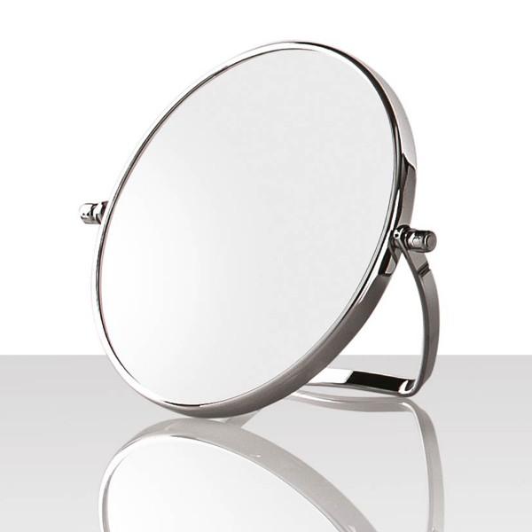 Kleiner Stell Spiegel Ø 13 cm, 2-fach, silber