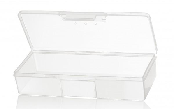 Aufbewahrungsbox 19cm für Pinsel, Feilen und Utensilien, transparent