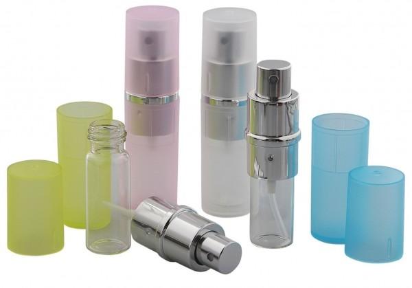 Zerstäuber, Rosa Parfümzerstäuber, Taschenzerstäuber, Pump Zerstäuber für Unterwegs, 8ml