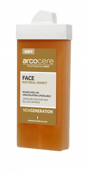 Wachspatrone FACE Natural Honey arcocere, Roll-On Schmal, 100 ml