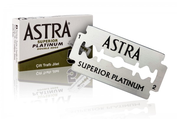 Astra Rasierklinge, Superior Platinium Double Edge, 5 Stück