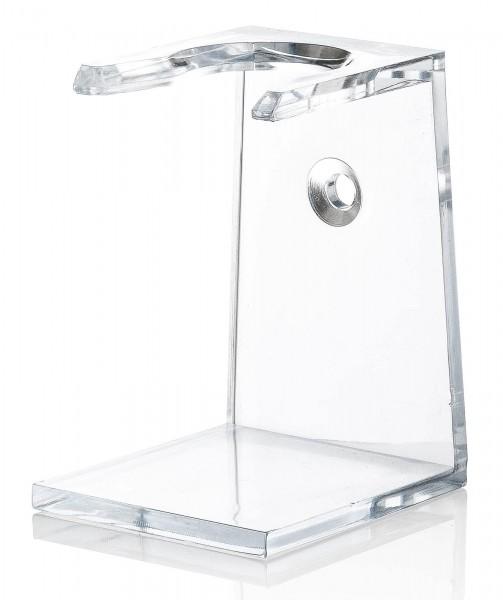 Acryl Rasierpinselhalter, Transparent, mit Selbstklebepunkt, Halterung für Rasierpinsel