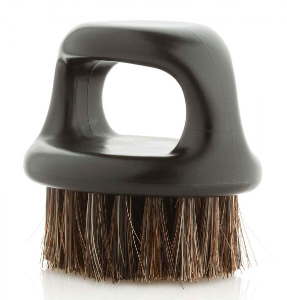 Bartbürsten aus Naturborsten, Rund 6cm mit Fingerloch