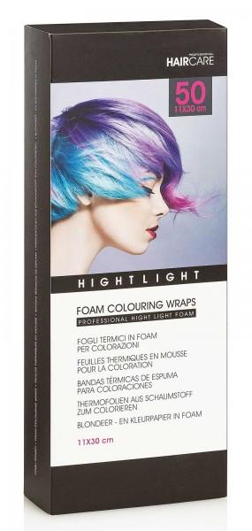 50 St. Thermofolien für kreatives Färben und Blondieren, Coloring Wraps, 11x30 cm