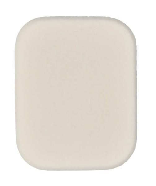 5x4 cm Rechteckig, Make-up Schwämmchen, weiß