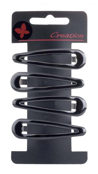 4-teilig Haarclips Set, Haarklemme, schwarz