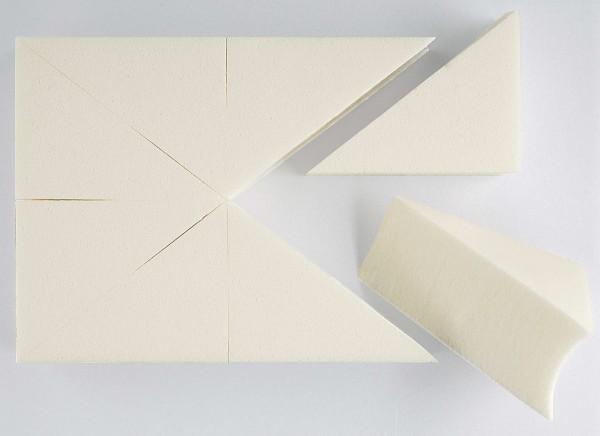 8x Make-up Dreieck Schwämmchen, weiß
