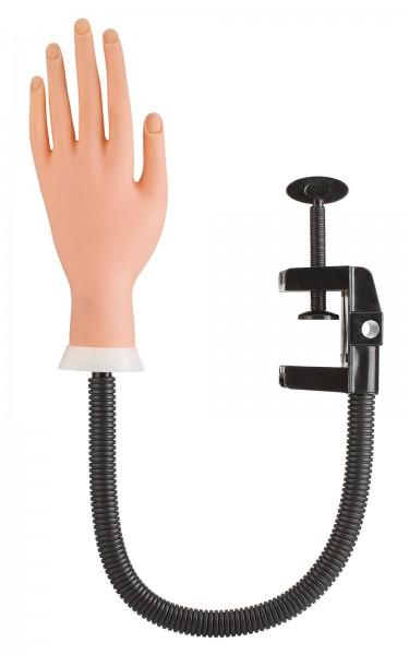 Übungshand für Maniküre mit Klemme, Kunststoff Hand
