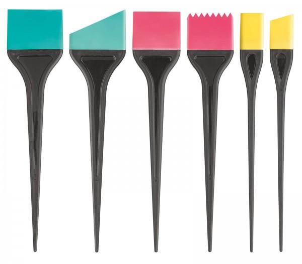 6 Stk. Silikon Haarfärbepinsel, Set, Färbe Applikator