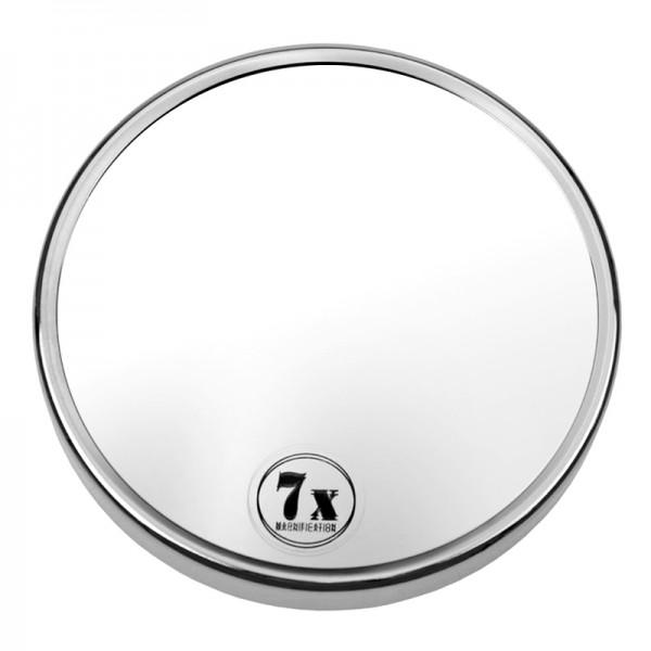 Kosmetik-Spiegel mit 7-fach Vergrößerung und Saugnäpfen-Metall,Chromfarben