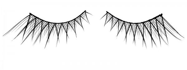 Künstliche Wimpern Romantic Charme, Wimpernband zur optischen Verlängerung inkl. Kleber