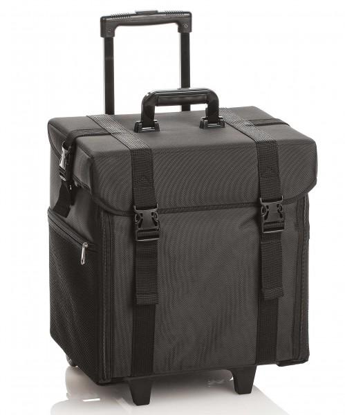Halbstarrer Trolley Friseurtasche, Friseurwerkzeug Koffer Organizer Pro, schwarz