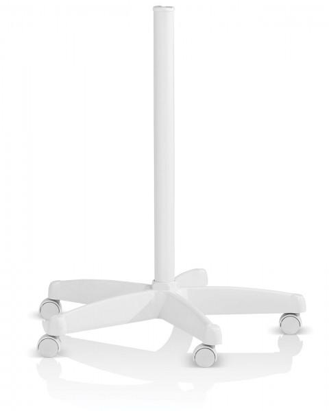5-Speichen Roll-Ständer für Lupenleuchten u.a. in Weiß, mit Rollen