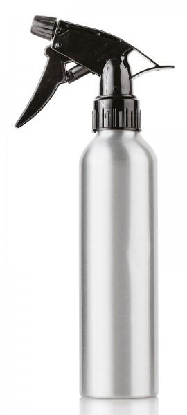 Alu Sprühflasche 260ml, silber, Flasche mit Sprühkopf Zerstäuber, leer