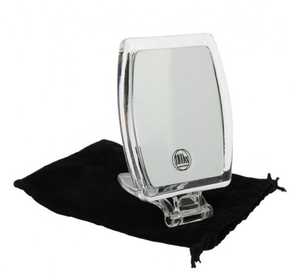 Kosmetik-Spiegel, Reisespiegel mit 10-fach Vergrößerung, Handspiegel zum Stellen