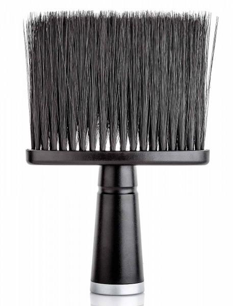 Ultraweich Oval Friseur Nackenpinsel mit Griff, Schwarz