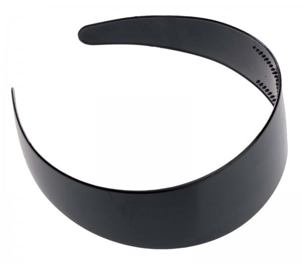 Breiter Haarreif schwarz, 4,5 cm