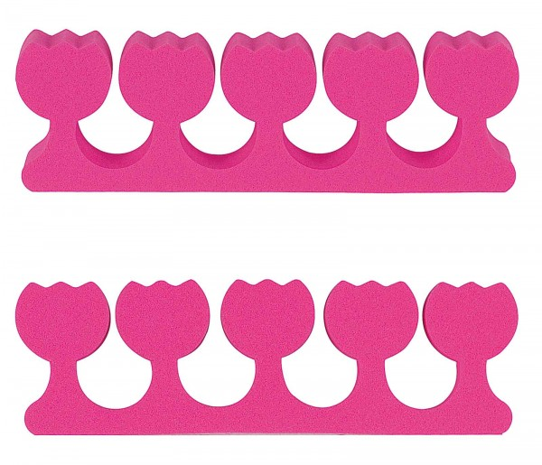 Zehentrenner, Pink Blumenform, 1 Paar