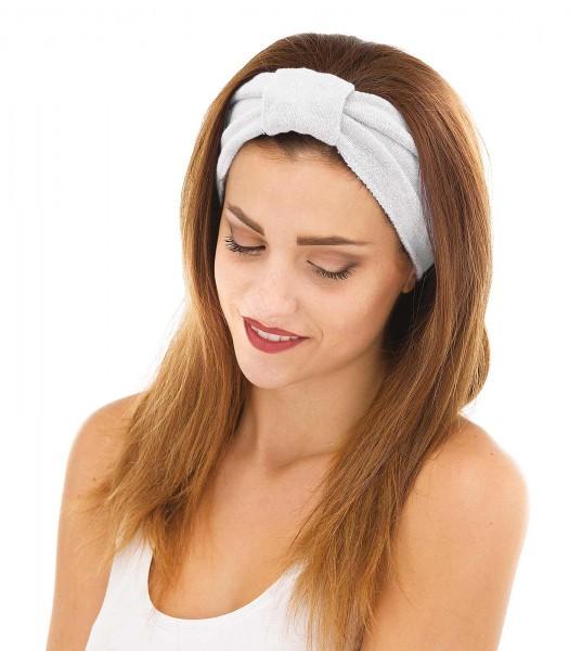 Weißes Haarband mit Klettverschluss