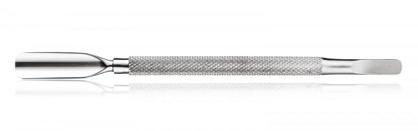 Nagelhautschieber mit konkav und flach abgerundet Spitzen, doppelendig aus Edelstahl