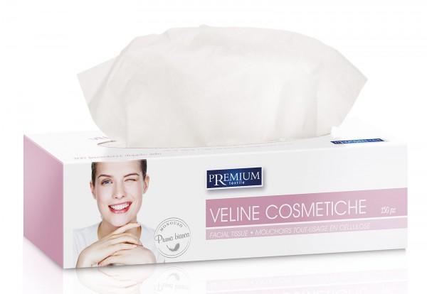 150 Kosmetiktücher in Box, Kosmetik Tissue, weiß